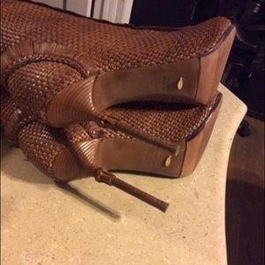 Sergio Rossi Shoes - Sergio Rossi Lara Croft Peeptoe Bootie